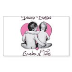 grandma of twins Sticker (Rectangle 10 pk)