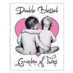 grandma of twins Small Poster