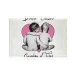 grandma of twins Rectangle Magnet (100 pack)