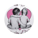grandma of twins Ornament (Round)