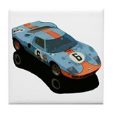 Funny Race car Tile Coaster