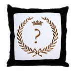Napoleon gold ? (question mark) Throw Pillow