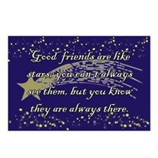 Friends are like Stars Postcards (Package of 8)