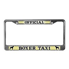 Official Boxer Taxi License Plate Frame