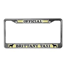 Official Brittany Spaniel Taxi License Plate Frame