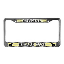 Official Briard Taxi License Plate Frame