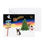 XmasSigns/Corgi Pup (Z) Greeting Cards (Pk of 10)