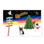 XmasSigns/Corgi Pup (Z) Postcards (Package of 8)