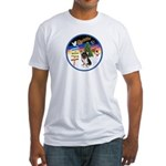 XmasSigns/Corgi Pup (Z) Fitted T-Shirt