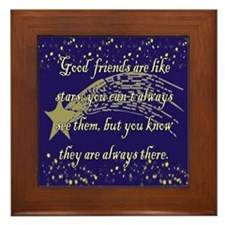 Friends are like Stars Framed Tile