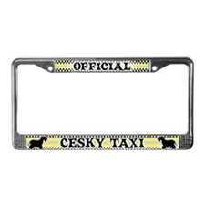 Official Cesky Terrier Taxi License Plate Frame