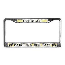 Official Carolina Dog Taxi License Plate Frame