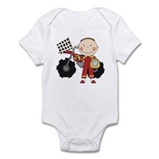 Motocross Racing Red Infant Bodysuit