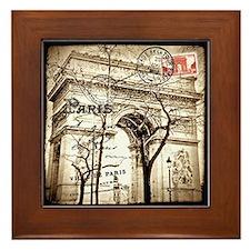 Arc de Triomphe Sepia Postcard Framed Tile