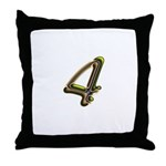 Phyllis Initials 4 Throw Pillow