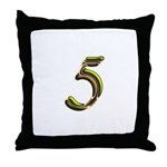 Phyllis Initials 5 Throw Pillow