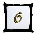Phyllis Initials 6 Throw Pillow