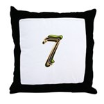 Phyllis Initials 7 Throw Pillow