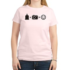 Headstone Happy Women's Light T-Shirt