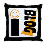 Blog Happy Throw Pillow