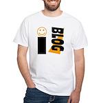 Blog Happy White T-Shirt