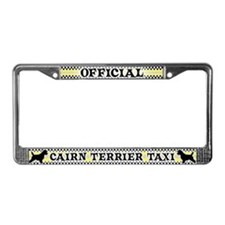 Official Cairn Terrier Taxi License Plate Frame