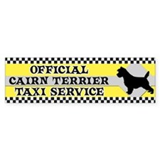 Official Cairn Terrier Taxi Bumper Bumper Sticker