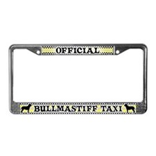 Official Bullmastiff Taxi License Plate Frame