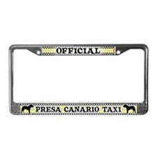 Official Presa Canario Taxi License Plate Frame