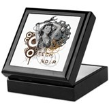 Tech noir pulp steampunk dame Keepsake Box