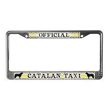 Official Catalan Sheepdog Taxi License Plate Frame