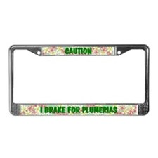Cute Plumeria License Plate Frame