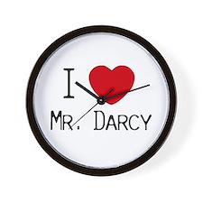 I :heart: Mr. Darcy Wall Clock