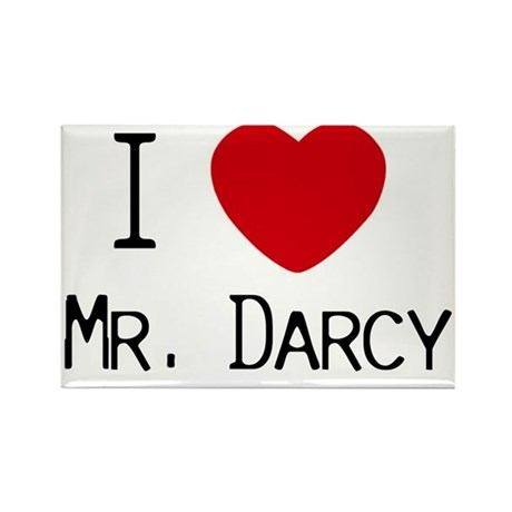I :heart: Mr. Darcy Rectangle Magnet (100 pack)