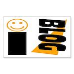 Blog Happy Rectangle Sticker