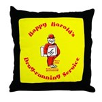 Happy Harold Throw Pillow