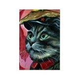 Chairman Meow Painting Rectangle Magnet