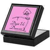 Pink Back Deja Vu Dancer Keepsake Box