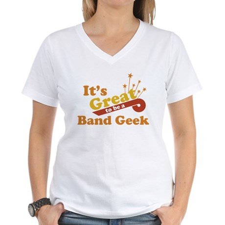 Band Geek Women's V-Neck T-Shirt