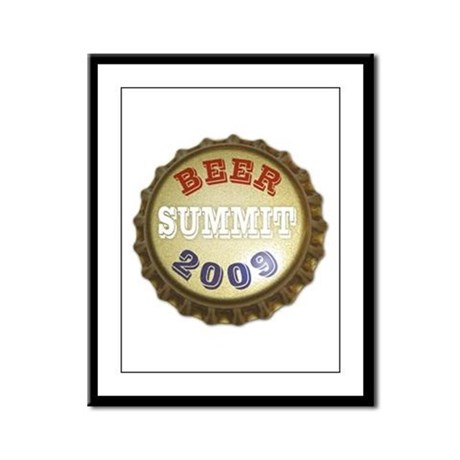 Beer Summit - Framed Panel Print