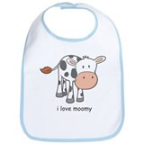 i love moomy Bib