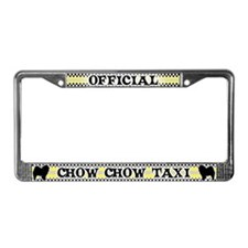 Official Chow Chow Taxi License Plate Frame