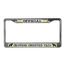 Official Chinese Crested Taxi License Plate Frame