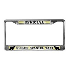 Official Cocker Spaniel Taxi License Plate Frame