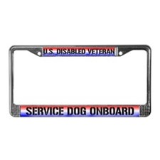 Disabled Veteran / Service Dog License Plate Frame