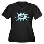 sock! Women's Plus Size V-Neck Dark T-Shirt