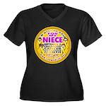 For My Niece Women's Plus Size V-Neck Dark T-Shirt