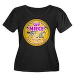 For My Niece Women's Plus Size Scoop Neck Dark T-S
