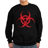 'Vintage' Red Biohazard Jumper Sweater