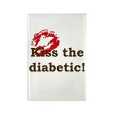 Kiss the Diabetic Rectangle Magnet (10 pack)